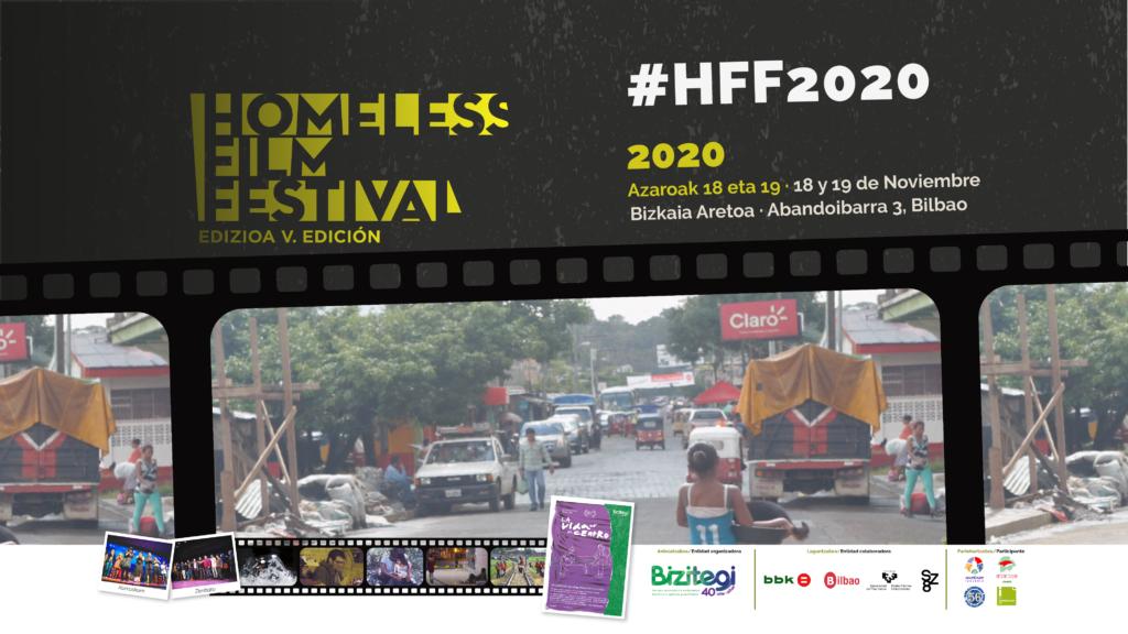 Pantalla-homeless film festival-hashtag